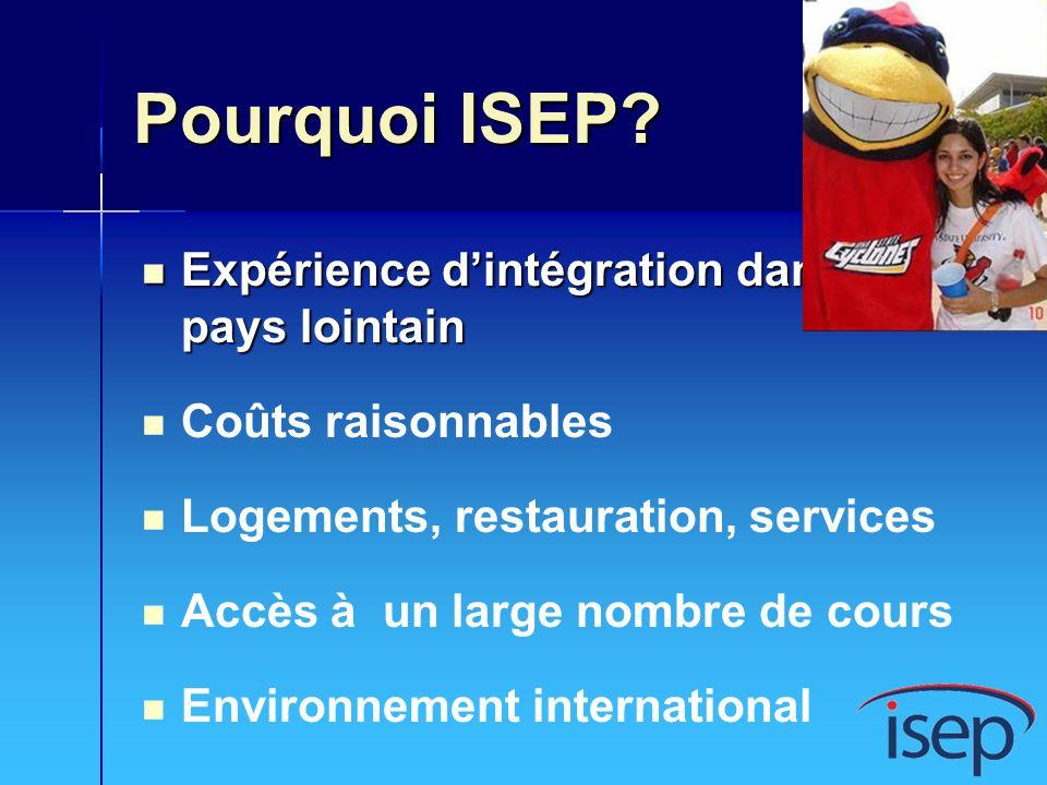 ISEP International International to International International to International Canada Canada Amérique latine Amérique latine Asie Asie International to USA International to USA