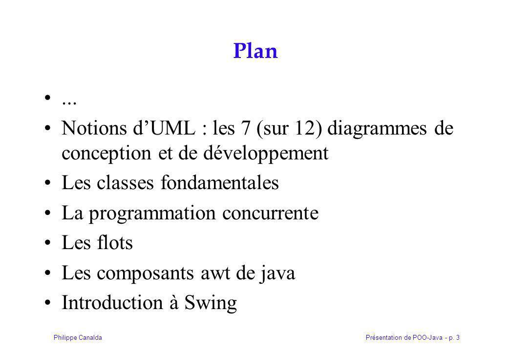 Présentation de POO-Java - p.3Philippe Canalda Plan...
