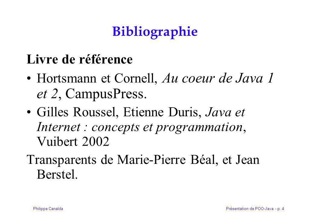 Présentation de POO-Java - p. 215Philippe Canalda Partie VI Programmation Graphique : Swing / Awt