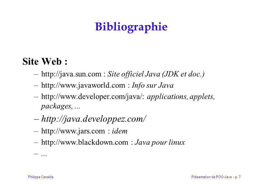 Présentation de POO-Java - p. 48Philippe Canalda