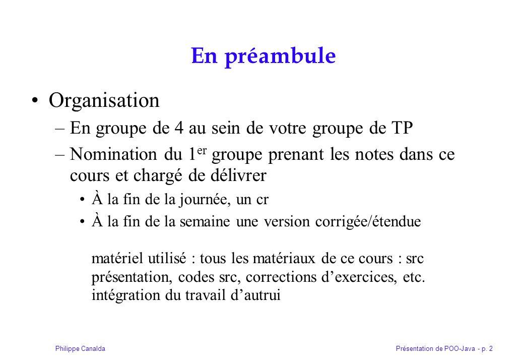 Présentation de POO-Java - p. 313Philippe Canalda Partie VI a Les composants awt de Java
