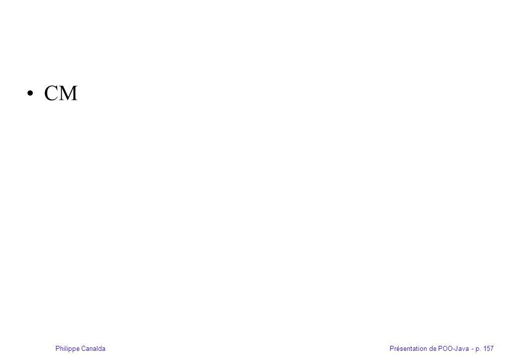 Présentation de POO-Java - p. 157Philippe Canalda CM