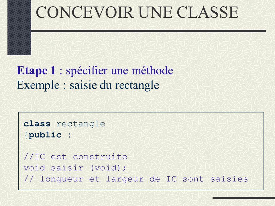 DISTINCTION entre: les fonctionnalités d un objet : INTERFACE et le codage de celles-ci : IMPLANTATION INTERFACE /IMPLANTATION INTERFACE d une classe