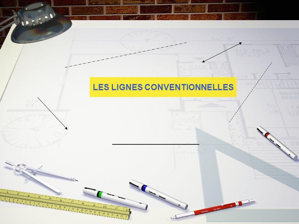 Dans un dessin technique, chaque type de lignes possède une signification propre.