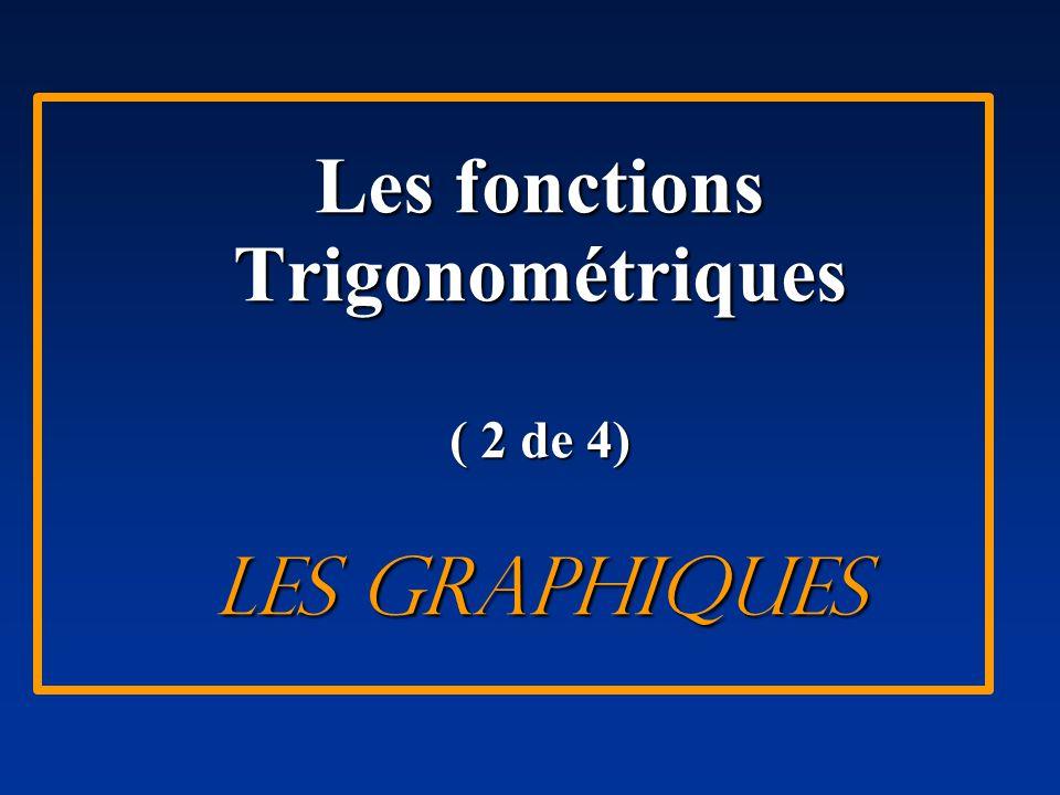 43 La fonction tangente fonction de base: f(x) = tan x La période: P = π I bI = π /P I bI = π / π = 1 Les équations des asymptotes x = n π/2 ( n est un entier)