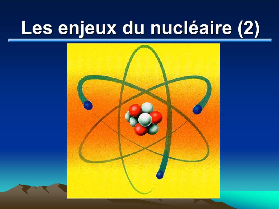 Les enjeux du nucléaire (2)