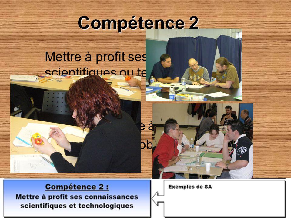 Compétence 2 Mettre à profit ses connaissances scientifiques ou technologiques Comment ? – Problématique à résoudre – Analyse dun objet technique