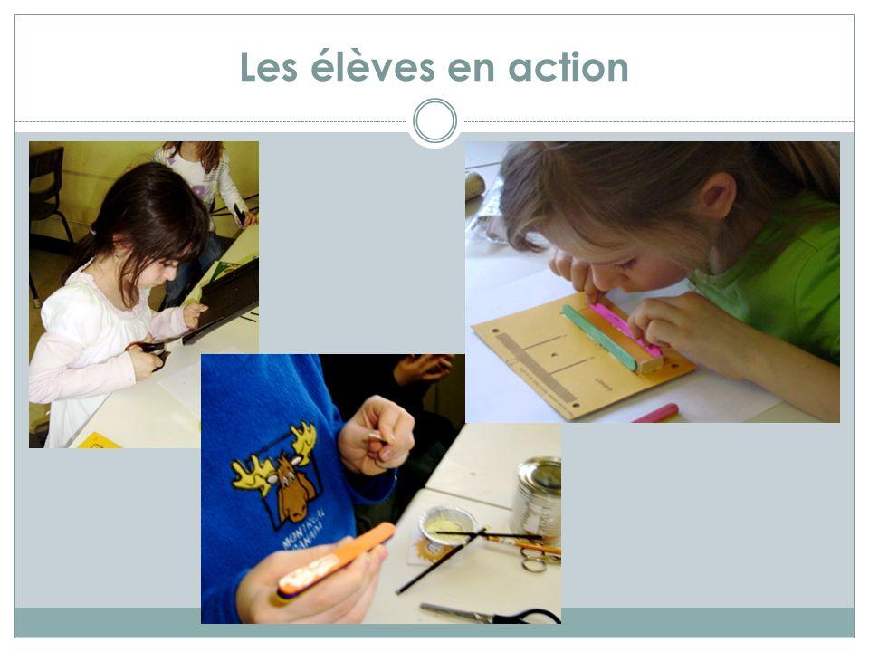 Les élèves en action