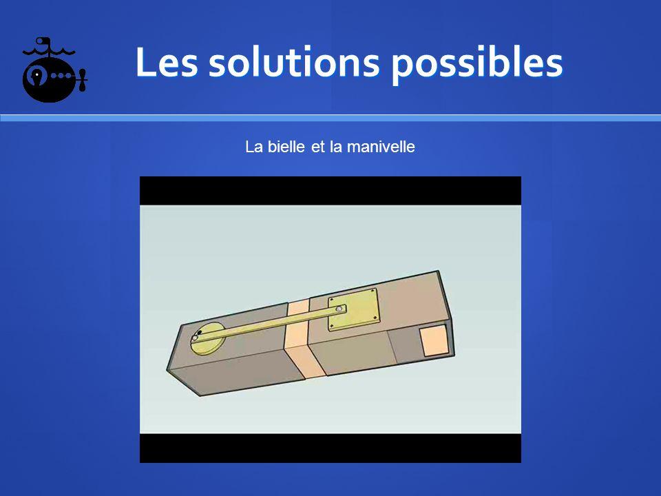 Les solutions possibles Les solutions possibles La bielle et la manivelle