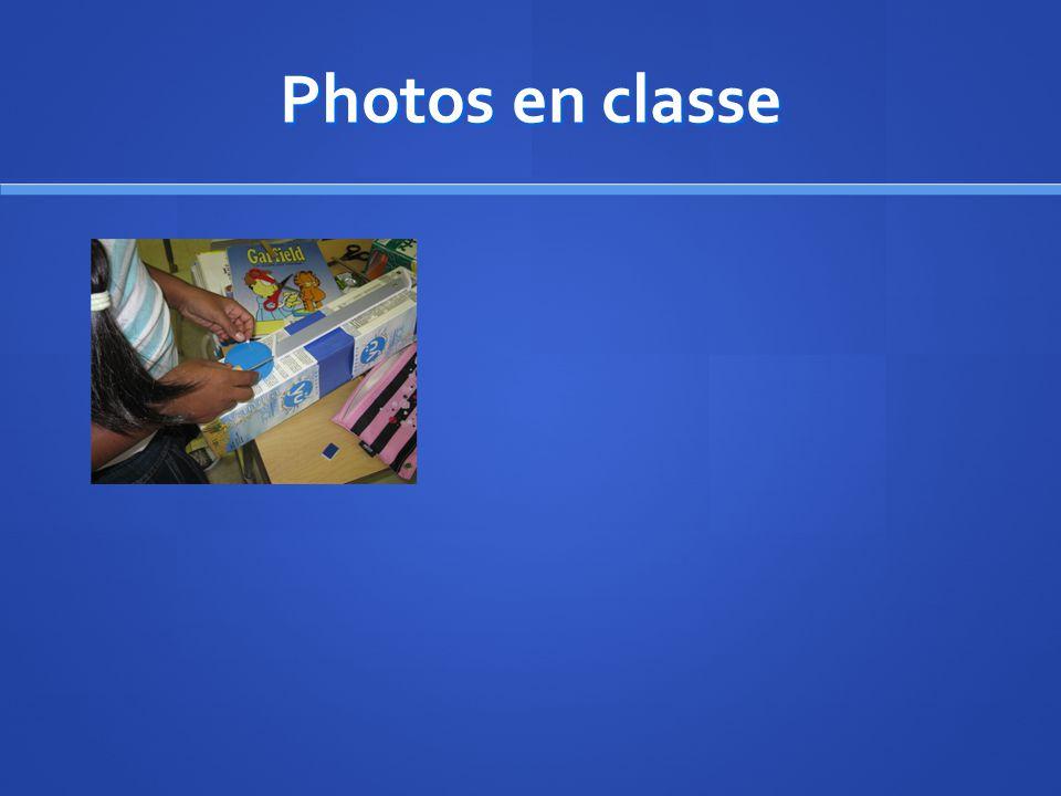 Photos en classe