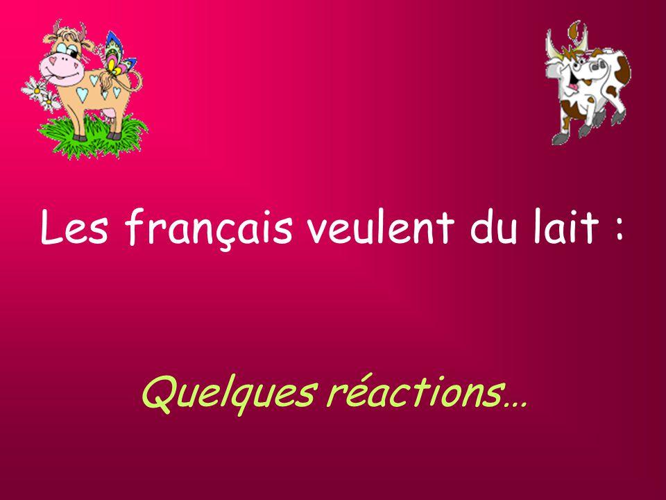 Capitalisme à la française ( suite … ) Sarkozy fait construire par son ami Bouygues un lactoduc sous la manche pour sapprovisionner auprès des anglais.