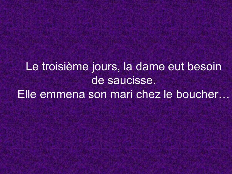 A quoi pensiez-vous? Bande de pervers!! Son mari parle français!!