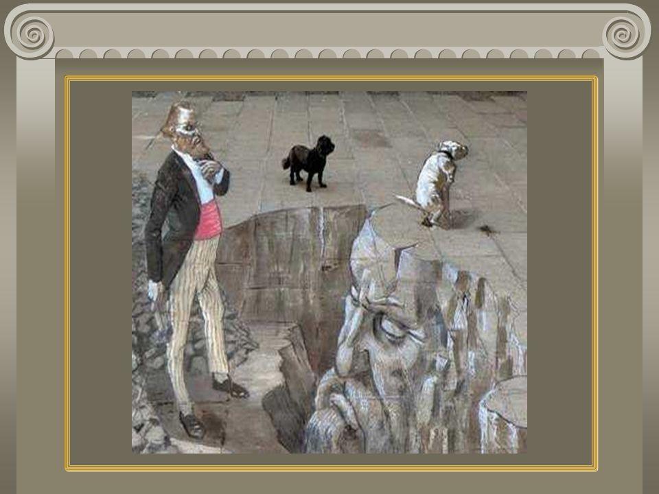 Les images suivantes sont dessinées de telle sorte quelles paraissent sortir du trottoir en 3D.