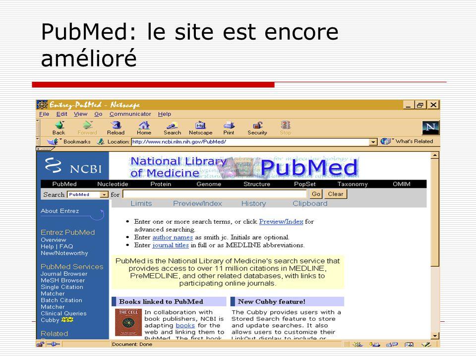 PubMed: le site est encore amélioré