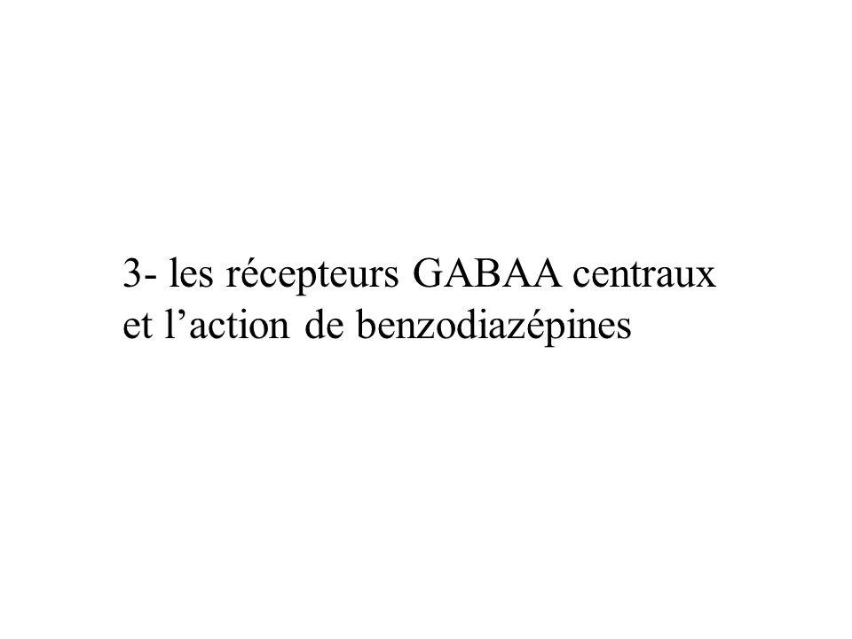 3- les récepteurs GABAA centraux et laction de benzodiazépines