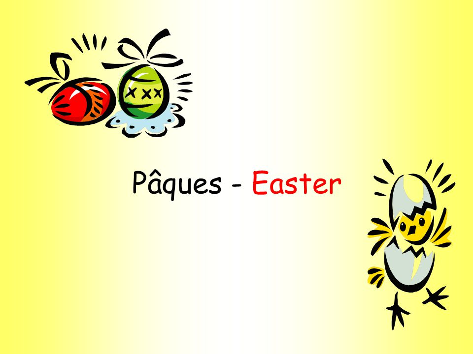 Joyeuses Pâques 1.When do the bells stop ringing in France.