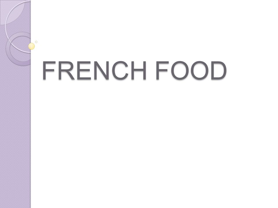 What you picture when you think about French food: