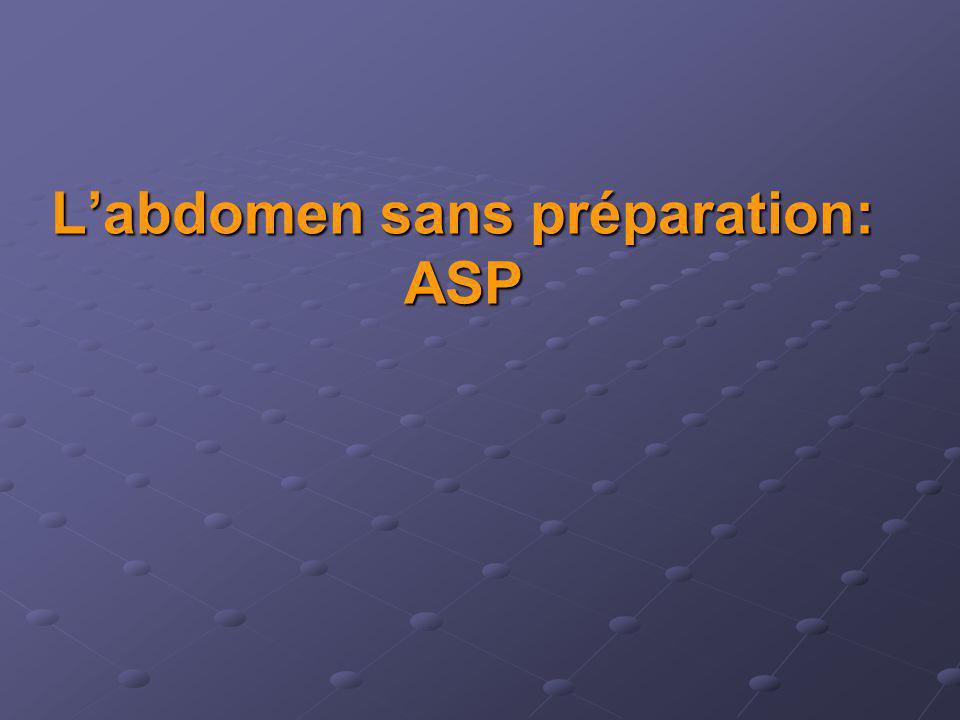 Labdomen sans préparation: ASP