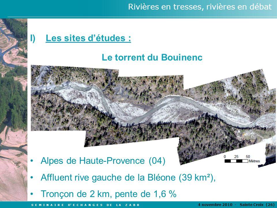 S E M I N A I R E D E C H A N G E S D E L A Z A B R 4 novembre 2010 - Sainte Croix (26 ) Rivières en tresses, rivières en débat Alpes de Haute-Provenc
