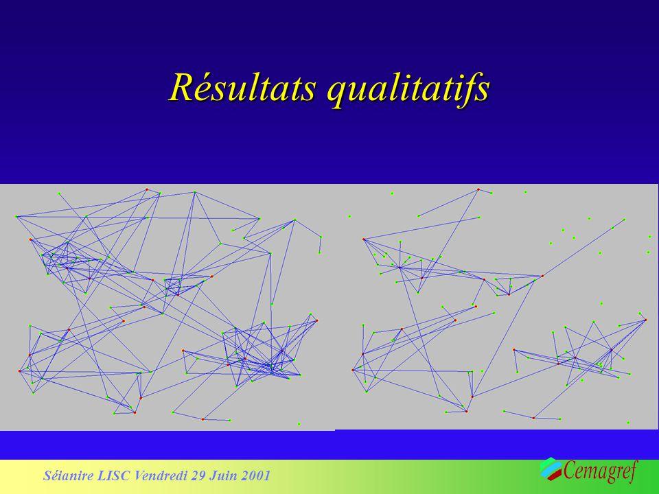 Séianire LISC Vendredi 29 Juin 2001 Résultats qualitatifs