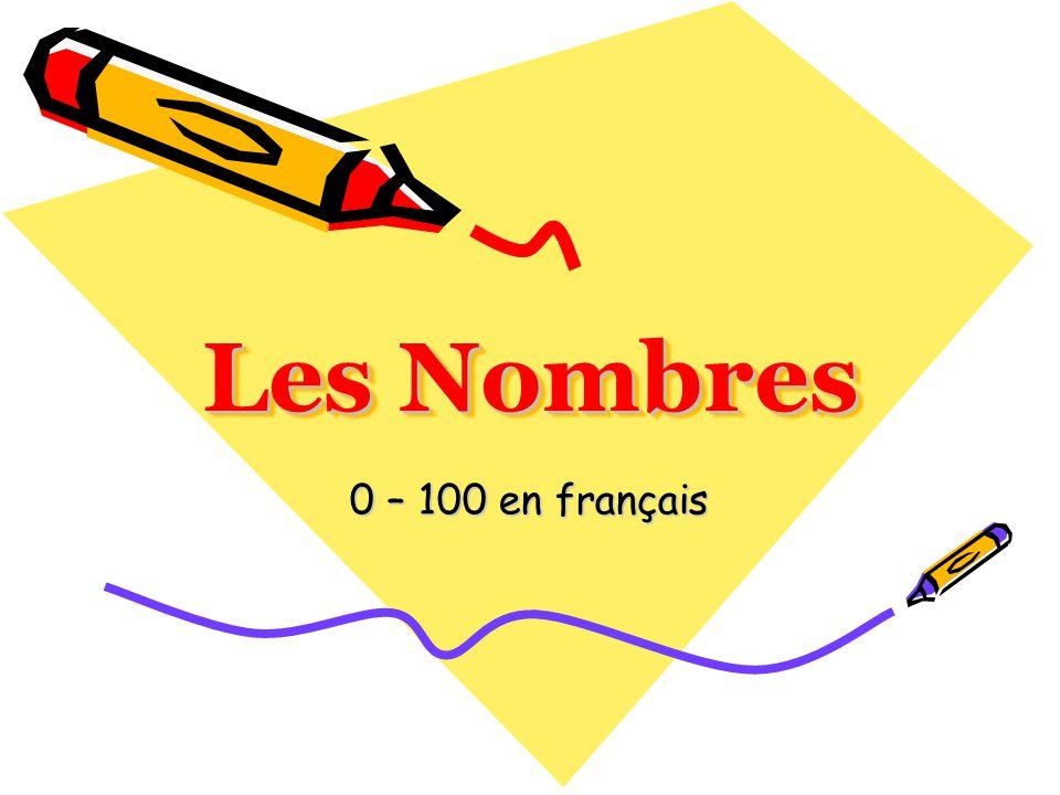 Les Nombres 0 – 100 en français