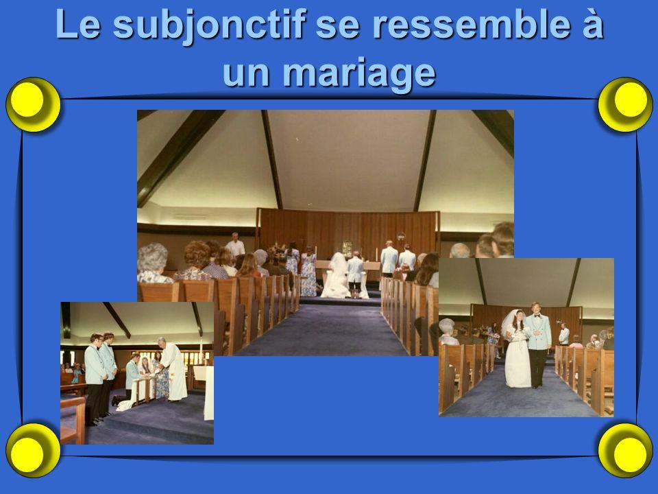 Le subjonctif se ressemble à un mariage