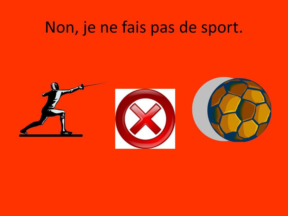 Non, je ne fais pas de sport.