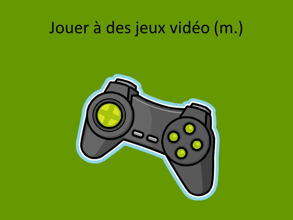 Jouer à des jeux vidéo (m.)