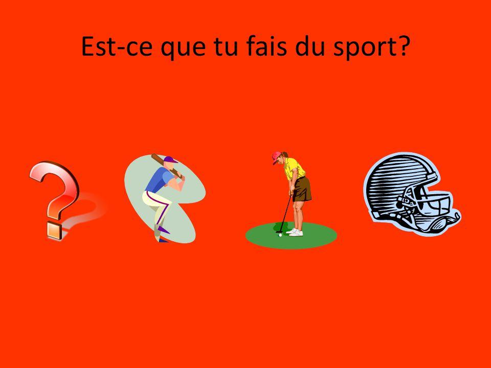Est-ce que tu fais du sport?