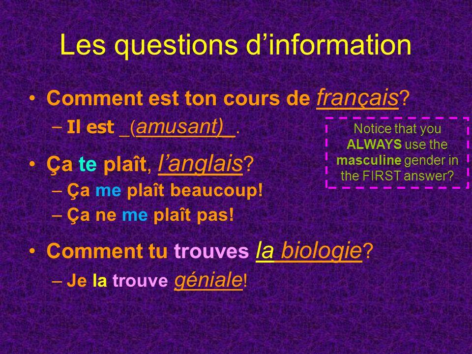 The tie that binds Use « parce que » to… –Answer la question… « Pourquoi.
