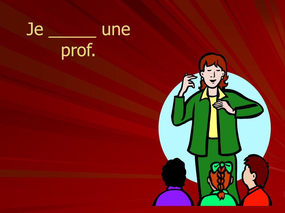 Je _____ une prof.