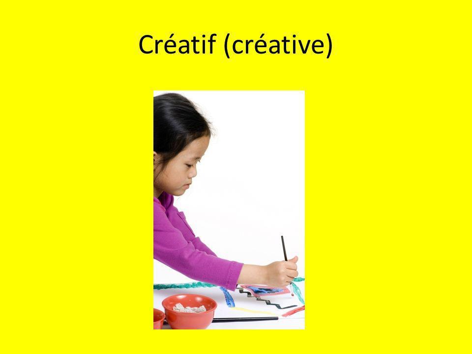 Créatif (créative)
