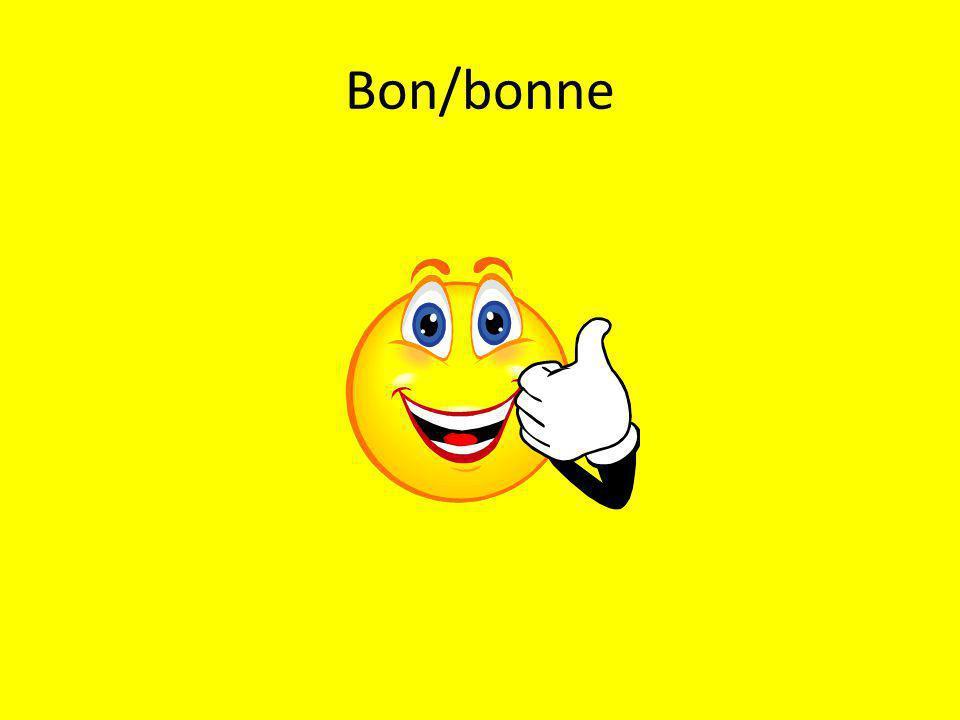 Bon/bonne