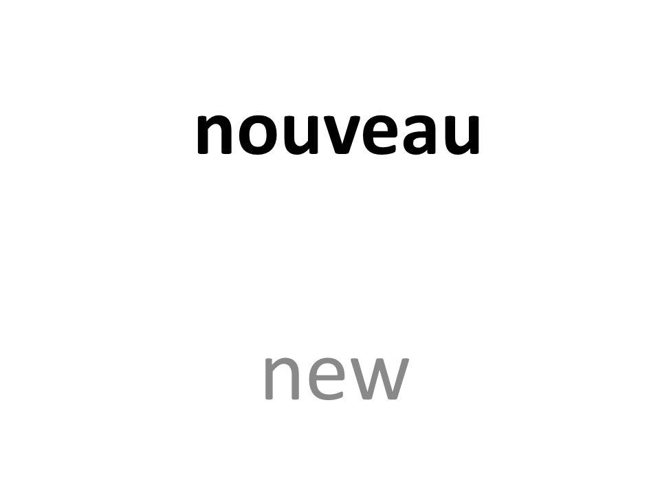 nouveau new