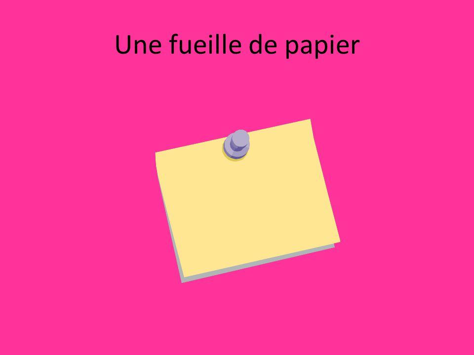 Une fueille de papier