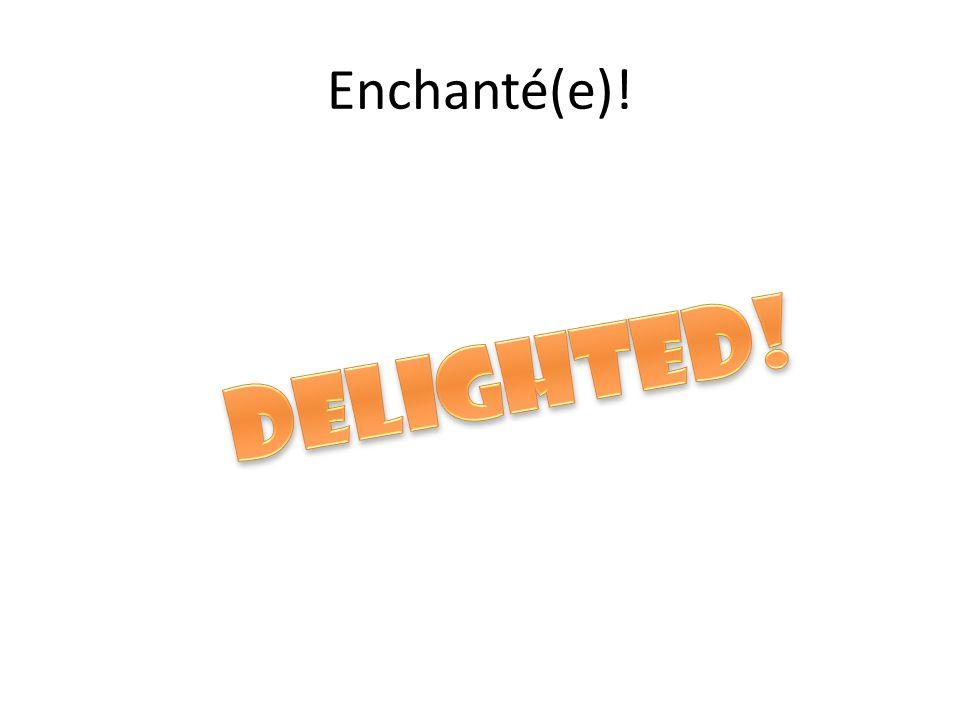 Enchanté(e)!