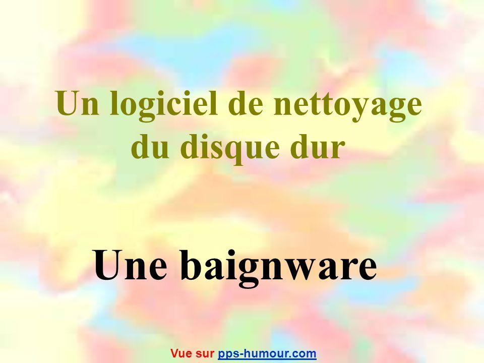 Un logiciel de merde Un suppositware Vue sur pps-humour.compps-humour.com
