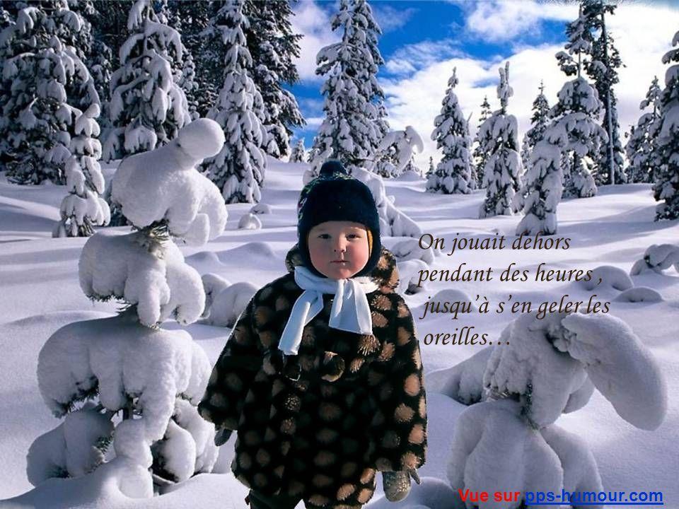 Je me souviens…quand jétais petit…nous avions des montagnes de neige…plus hautes que les poteaux de téléphone… Vue sur pps-humour.compps-humour.com