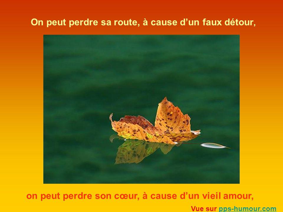 On peut perdre sa route, à cause dun faux détour, on peut perdre son cœur, à cause dun vieil amour, Vue sur pps-humour.compps-humour.com