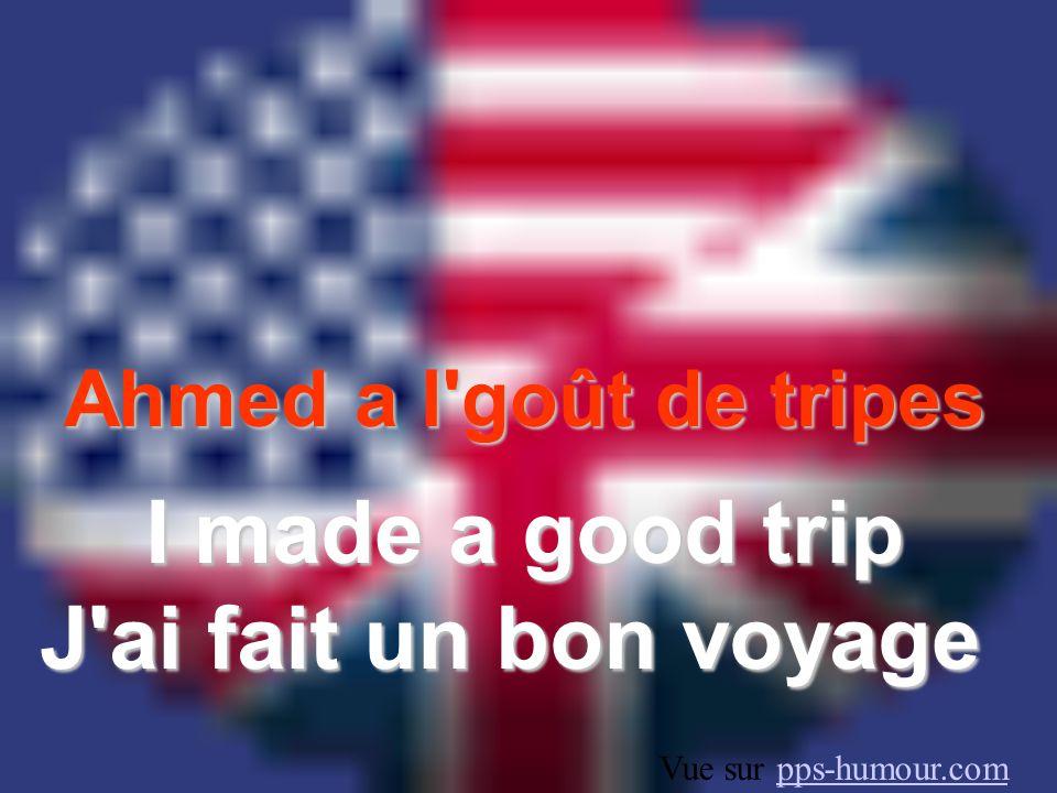 Ahmed a l goût de tripes I made a good trip J ai fait un bon voyage Vue sur pps-humour.compps-humour.com