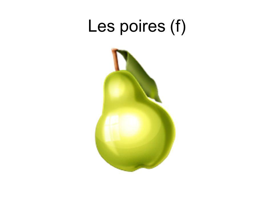 Les poires (f)
