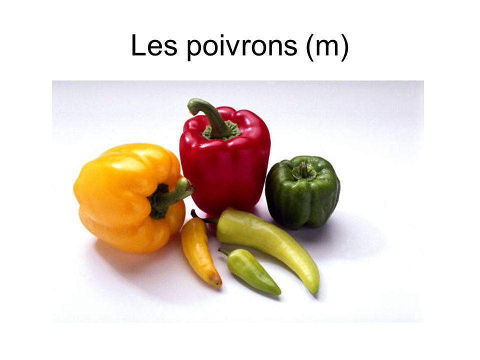 Les poivrons (m)