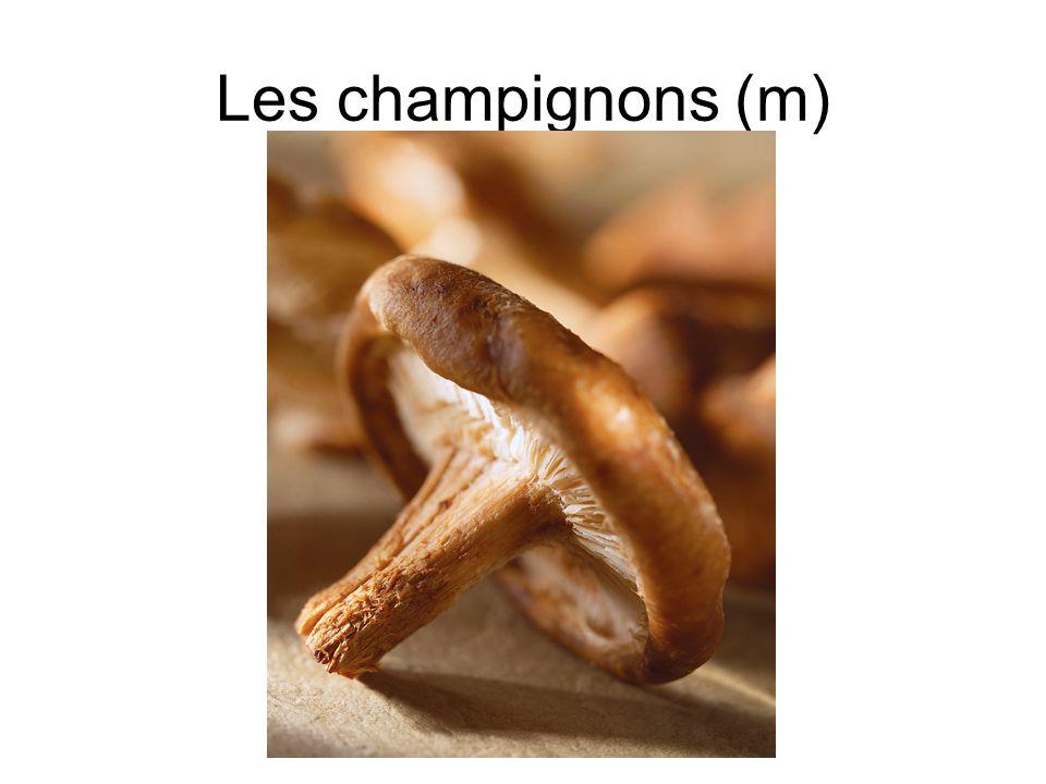 Les champignons (m)