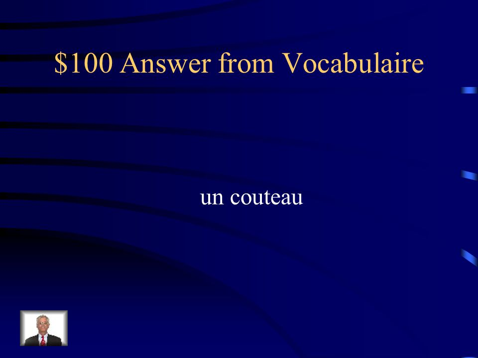 $100 Answer from Comparez aussi froid que