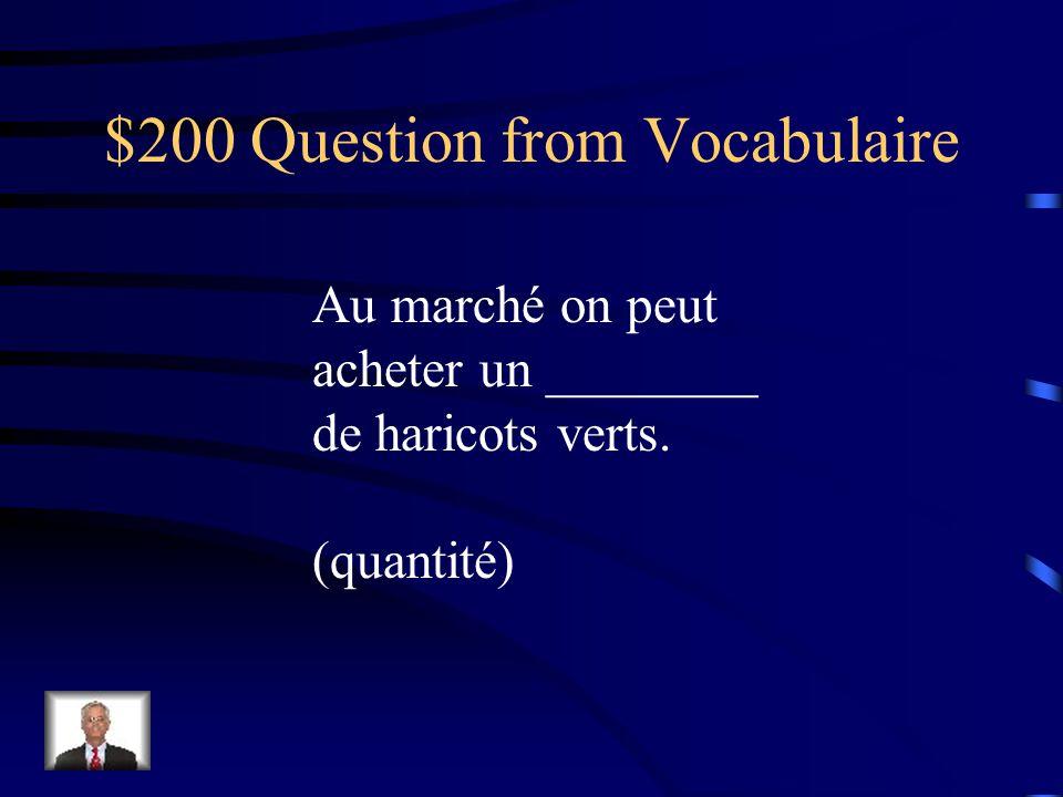 $200 Question from les Pronoms Nous voulons acheter cette écharpe à notre mère.