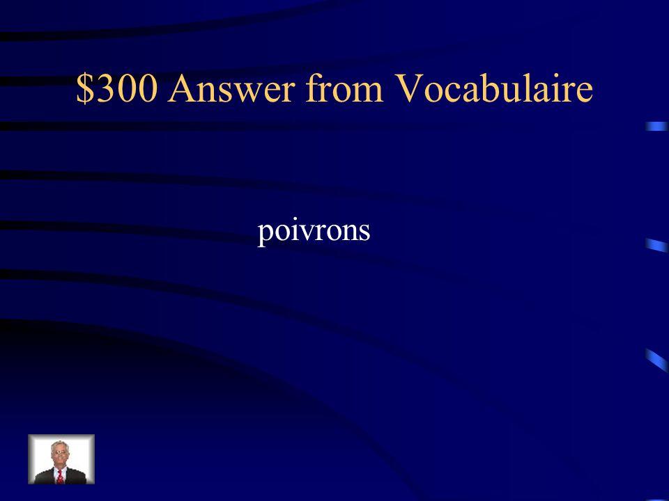 $300 Answer from les Pronoms Je dois les leur faire.