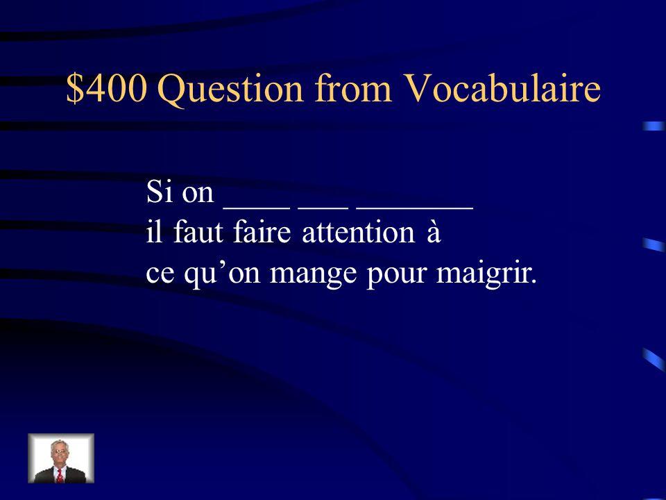 $400 Question from les Pronoms Vous pouvez envoyer les cartes de voeux aux jeunes mariés?.