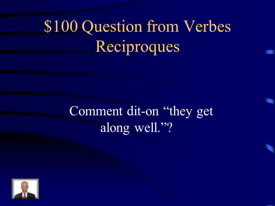 $500 Answer from Passé Composé des Verbes Réflechis Nous nous sommes rendu compte que vous êtes arrivé.