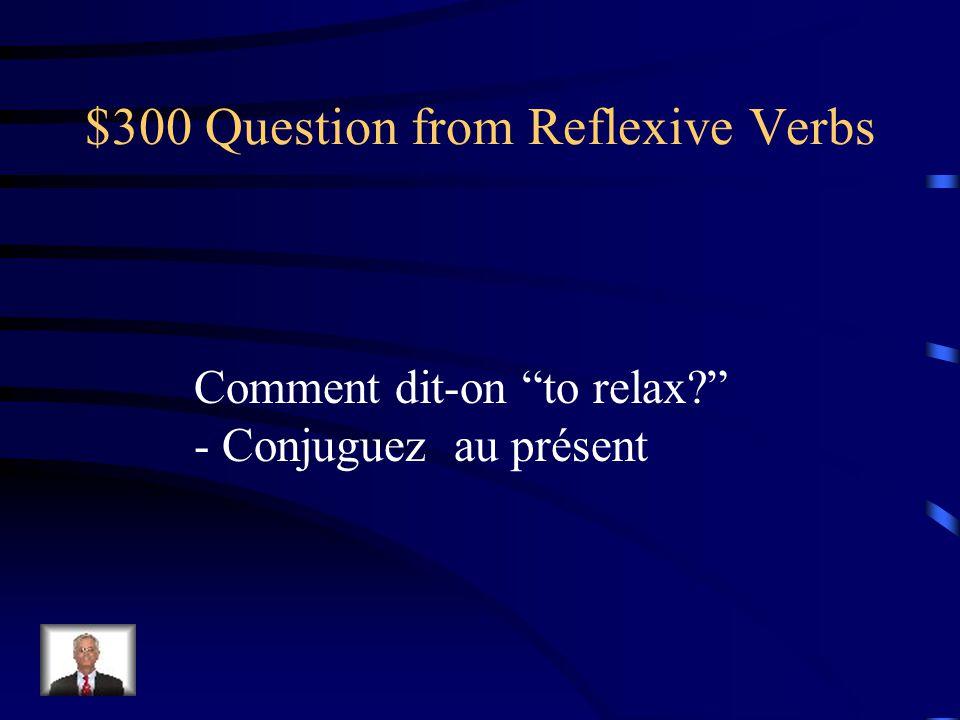 $200 Answer from Reflexive Verbs sinquiéter je minquiète nous nous inquiétons tu tinquiètes vous vous inquiétez il/elle sinquiète ils/elles sinquiètent
