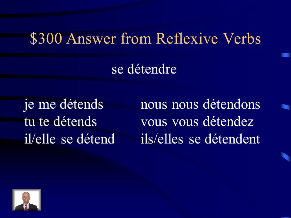 $300 Question from Reflexive Verbs Comment dit-on to relax - Conjuguez au présent